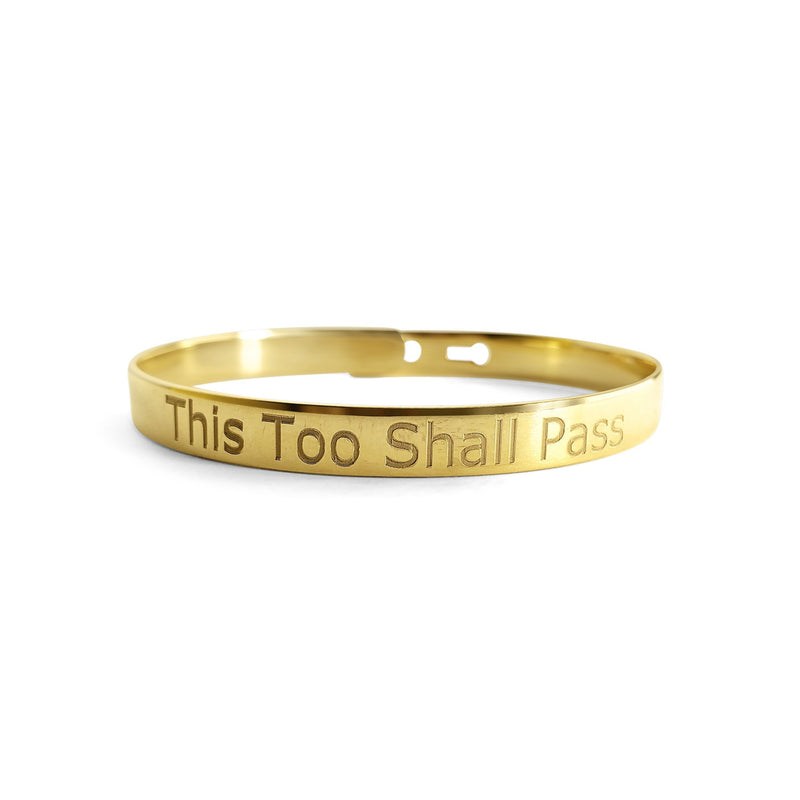 this too shall pass gold bracelet