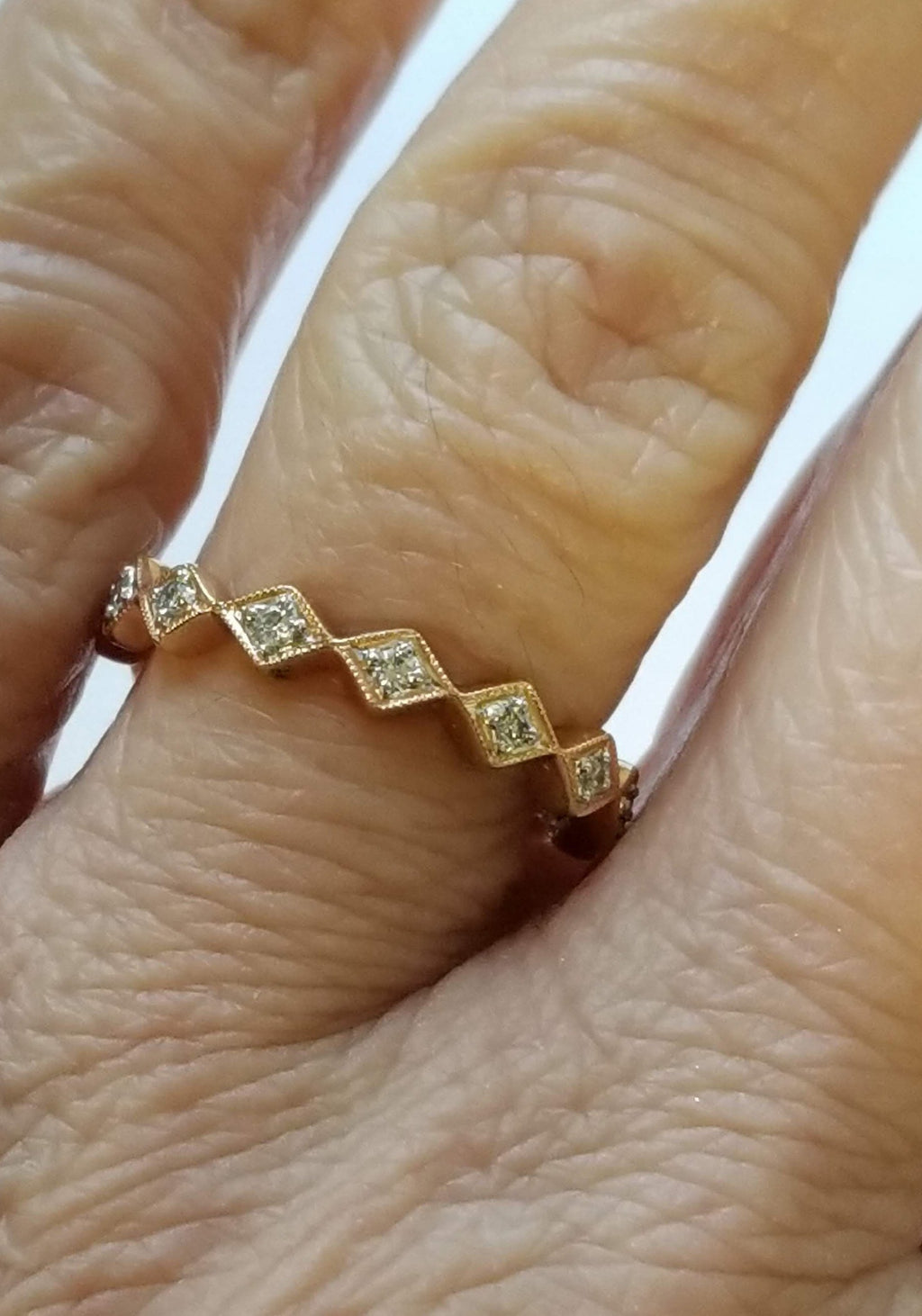 Ring of Diamonds - Alef Bet Jewelry by Paula