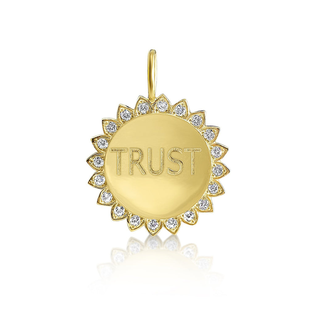 trust charm in gold