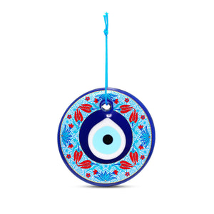 Turkish Ottaman Tulip Evil Eye Home Wall Hanging for Home