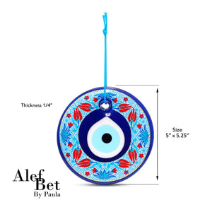 middle eastern floral evil eye