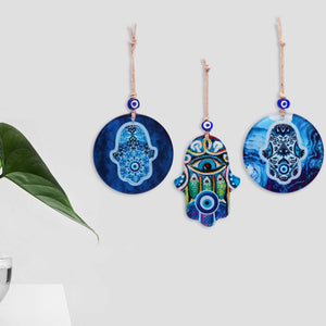 amulet for home with evil eye and hamsa