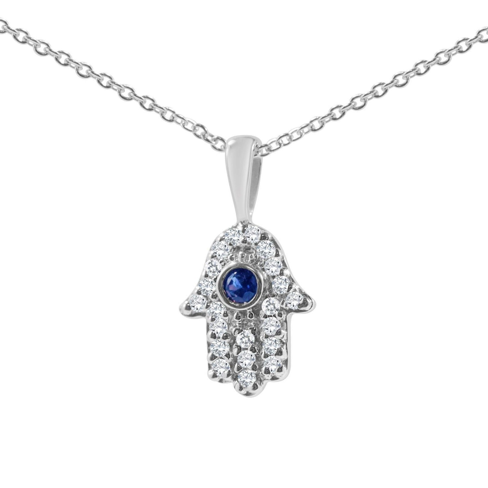 Small and Dainty Hamsa Diamond Necklace