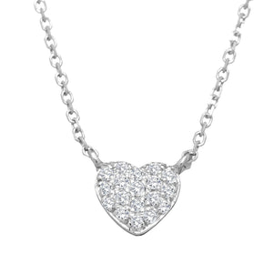 white gold heart small necklace