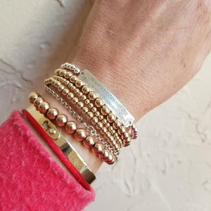 A Noble Woman Bracelet- Random Acts of Kindness - Alef Bet Jewelry by Paula