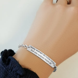 An Honorable Woman Bracelet | Proverbs 31 - Alef Bet Jewelry by Paula