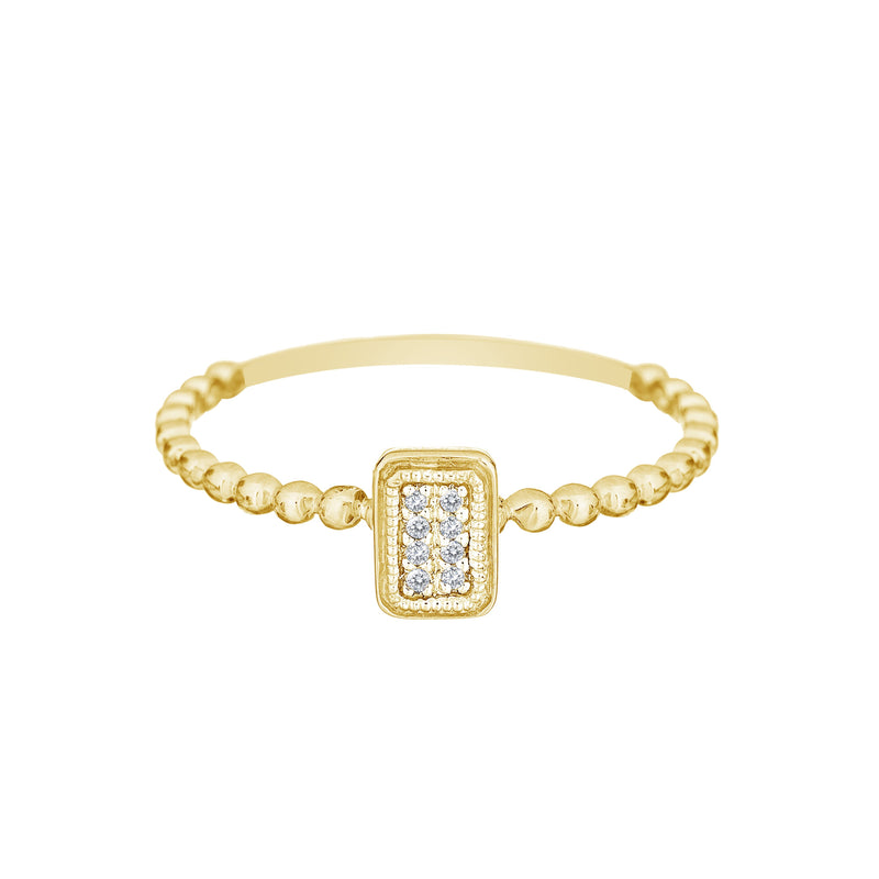Diamond and Gold Stacking Rings - Alef Bet Jewelry by Paula