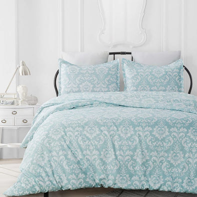 Refresh Your Room with Vaulia Damask Floral Design Duvet Cover Set