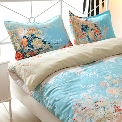 Vaulia Floral Patterned Duvet Cover Set BS73