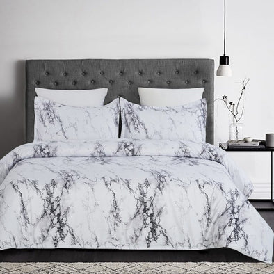 Vaulia Marble Inspired Design Duvet Cover Set