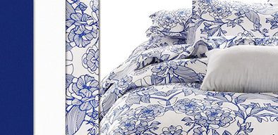 Blue and White Porcelain Inspired Duvet Cover Sets