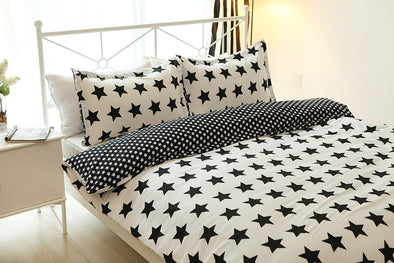Star Print Design Duvet Cover Sets