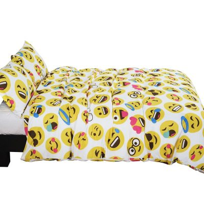 Vaulia Lovely Emoji Pattern Duvet Cover