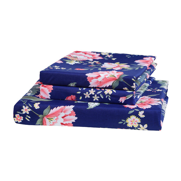 Colorful Floral Pattern Microfiber Duvet Cover Set BS213