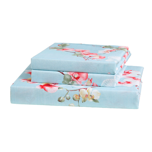Colorful Floral Print Pattern Microfiber Duvet Cover Set BS212