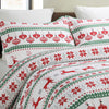 Vaulia Duvet Cover Set Design for Christmas Season, Red/Green BS613