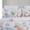 Lightweight Microfiber Duvet Cover Set, Colorful Flowers Print Pattern BS239