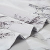 Lightweight Microfiber Duvet Cover Set White Marble BS328