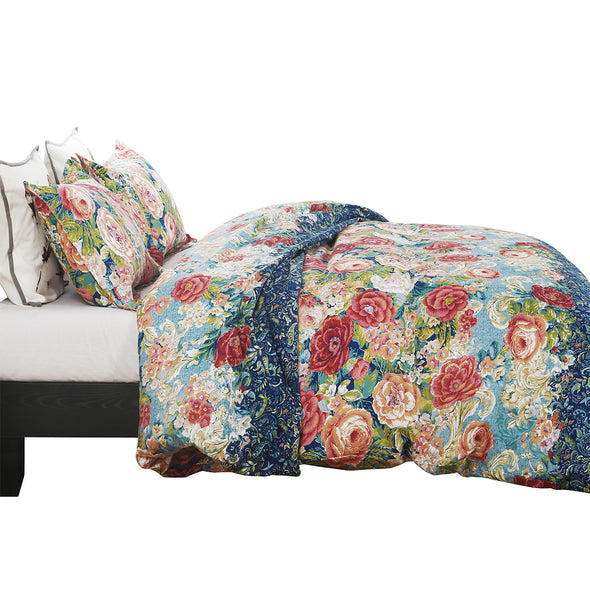 Vintage Floral Pattern Design Microfiber Duvet Cover Set BS316