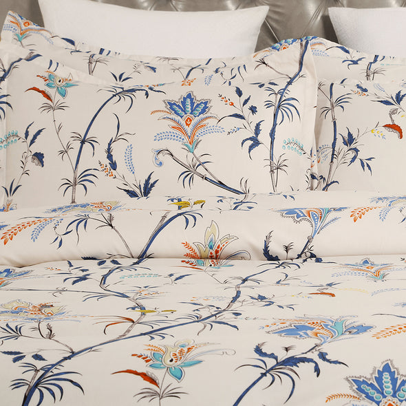 Floral Pattern Design Microfiber Duvet Cover Set BS211