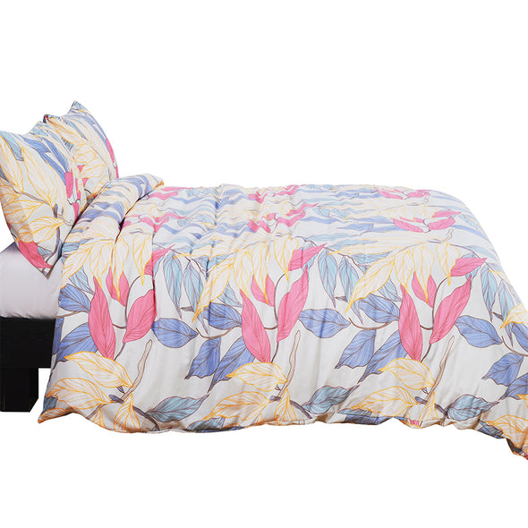 Colorful Floral Pattern Design Microfiber Duvet Cover Set BS309