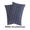 Lightweight Microfiber Fitted Sheet Navy/White BT219