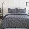 vaulia Lightweight Microfiber Duvet Cover Sets Printed Pattern Design BS230