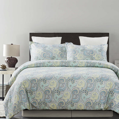 vaulia Microfiber Duvet Cover Set Paisley Pattern Design BS221