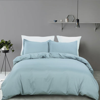 vaulia Microfiber Duvet Cover Set Spa Blue Color BS305C