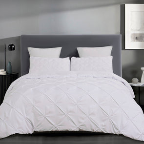 vaulia Microfiber Duvet Cover Sets Tufted Pattern white
