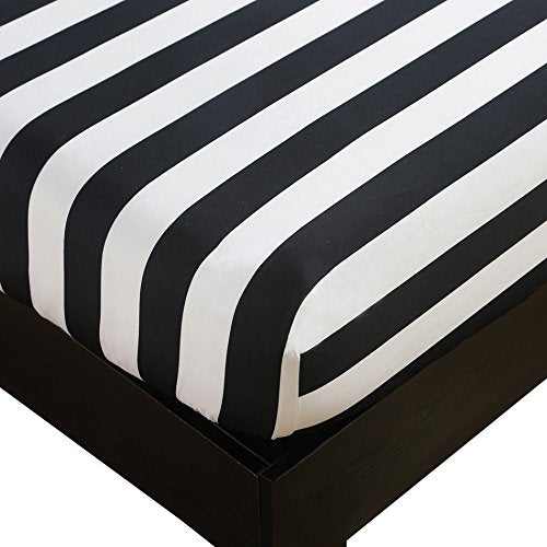 Vaulia Microfiber Fitted Sheet Stripe Pattern Design BT99
