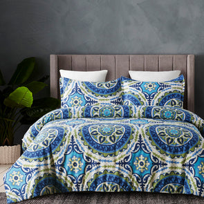 vaulia Bohemia Exotic Patterns Design Duvet Cover Set BS101B blue