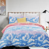vaulia Print Colorful Clouds Pattern Microfiber Duvet Cover Set BS108