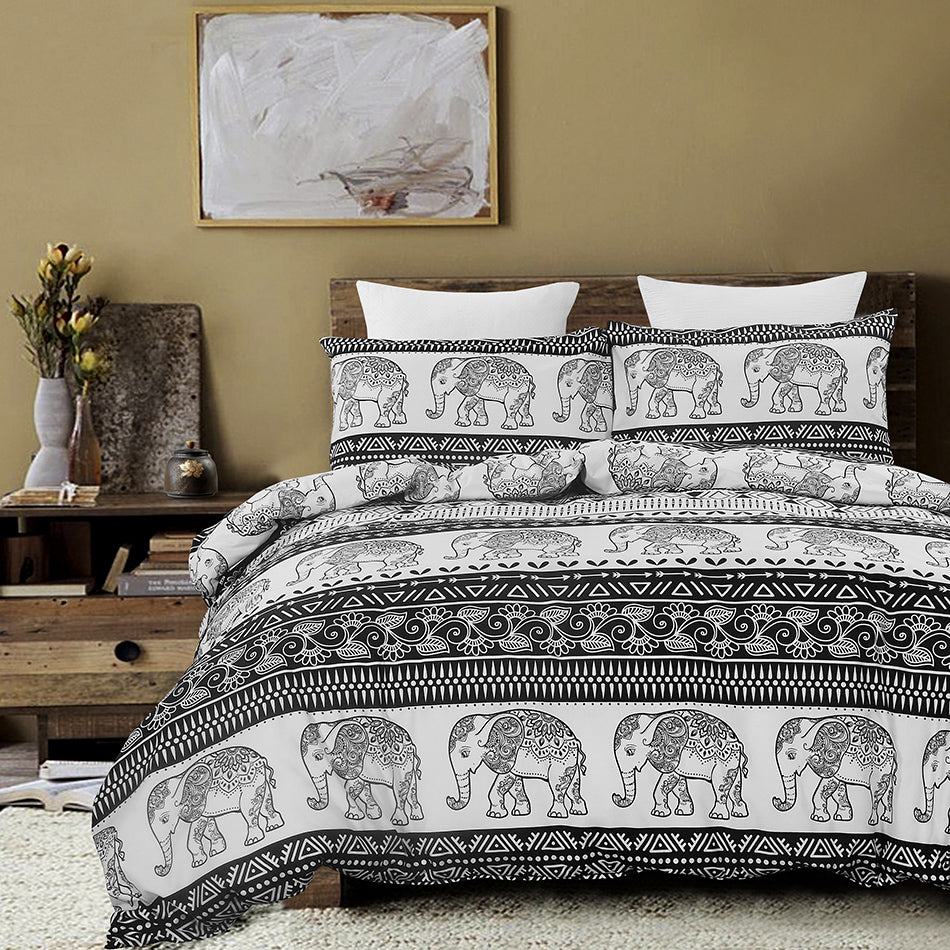 Mandala Exotic Design Microfibers Duvet Cover Set BS315