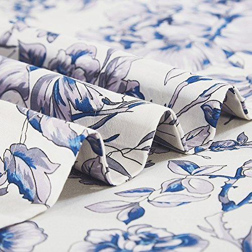 100-Percent Cotton Duvet Cover Sets Blue Flower CBS235