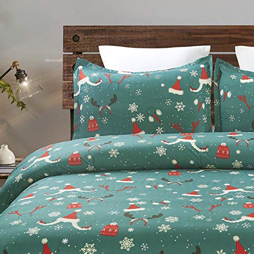 Vaulia Microfiber Duvet Cover Set, Well Designed Pattern for Christmas Decorations BS618