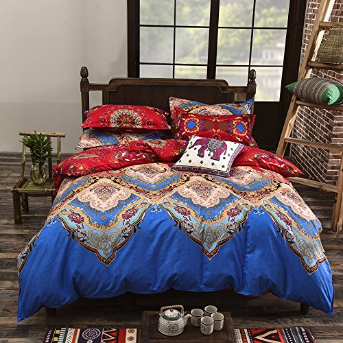 vaulia Microfiber Duvet Cover Set Bohemia Exotic Patterns BS104