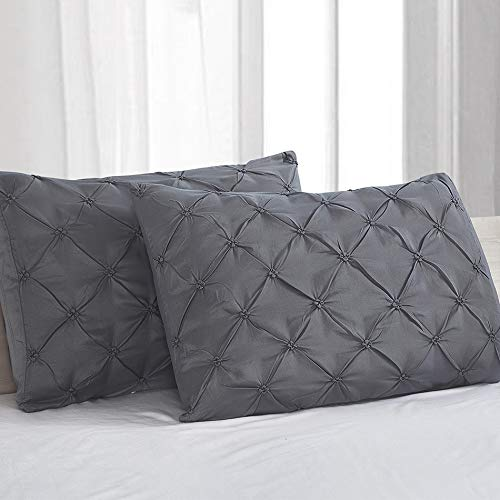 Vaulia Lightweight Microfiber Pillow Shams, Well Designed Pinch Pleat Pattern