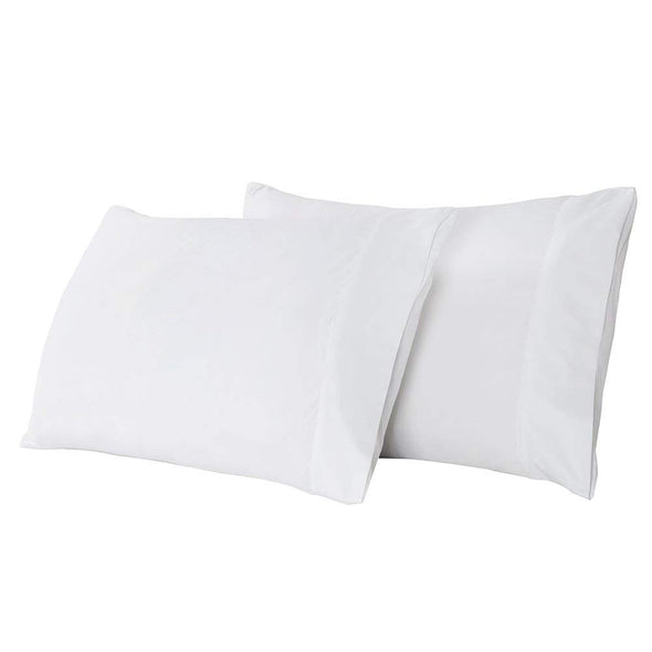 Lightweight Microfiber Pillowcases  Set of 2 white
