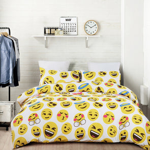 vaulia Lovely Emoji Pattern Design Duvet Cover BS313