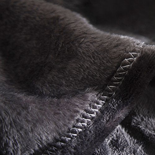 Microfiber Fleece Throws Blanket Grey Color TB01G