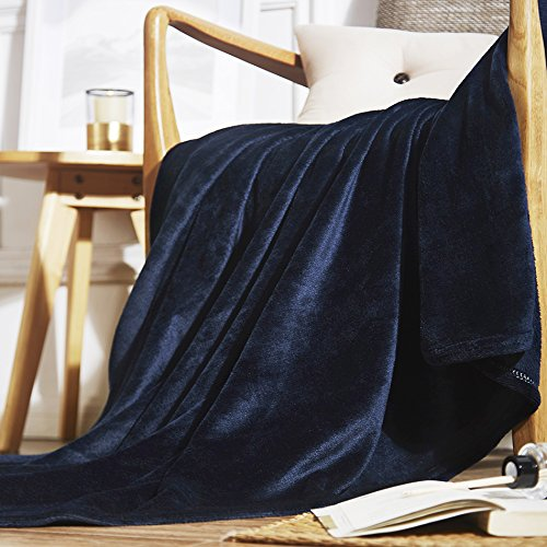 Microfiber Fleece Throws Blanket Navy Color TB02N