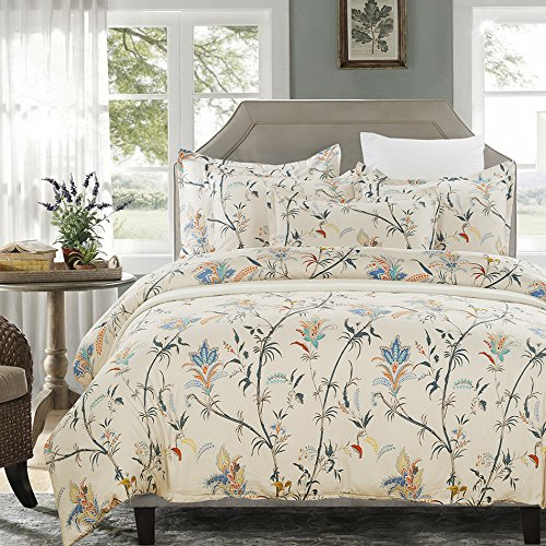 vaulia Floral Pattern Design Microfiber Duvet Cover Set BS211