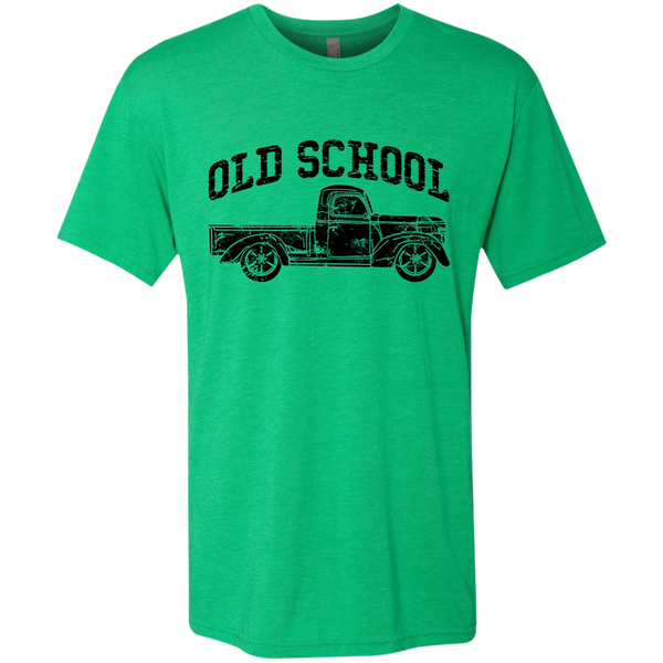 Old School Vintage Distressed Antique Truck Tee Shirt Green