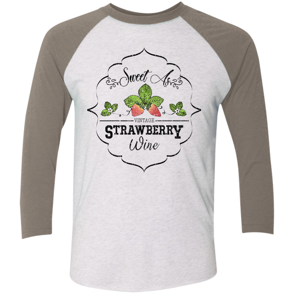 Sweet as Strawberry Wine 3/4 Sleeve Baseball Raglan Tee