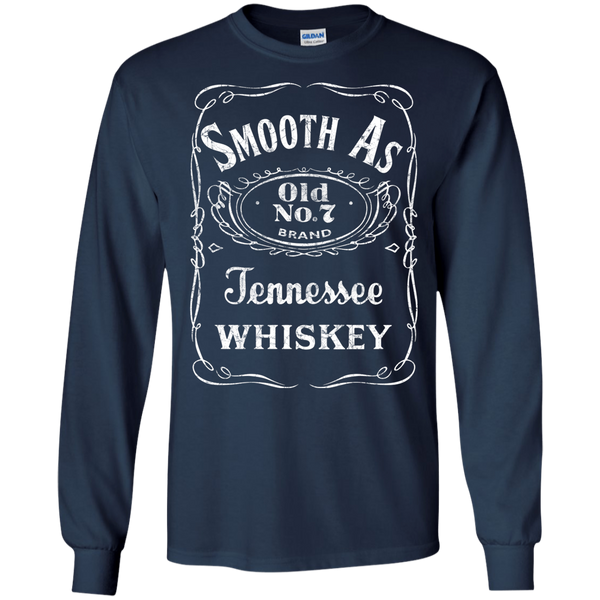 Smooth as Tennessee Whiskey Long Sleeve Tee Shirt Navy