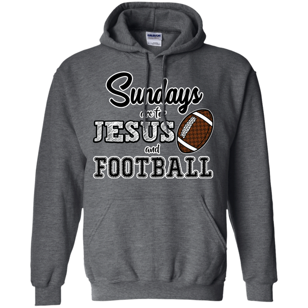 Sundays are for Jesus and Football Hoodie Sweatshirt Grey
