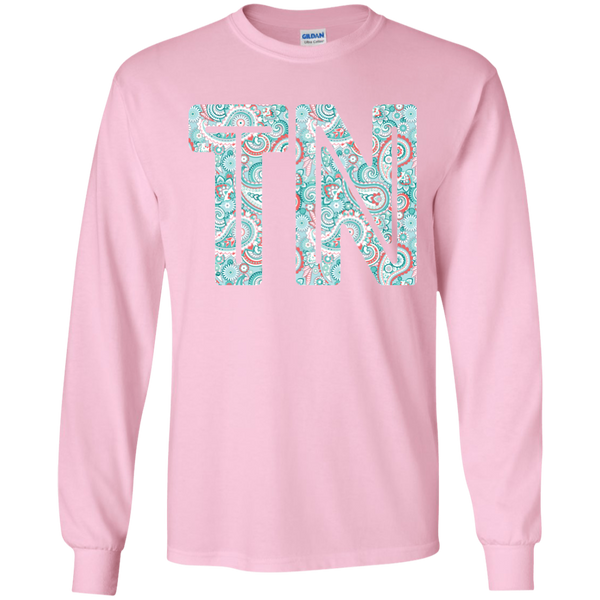 Paisley Tennessee Long Sleeve Tee Pink