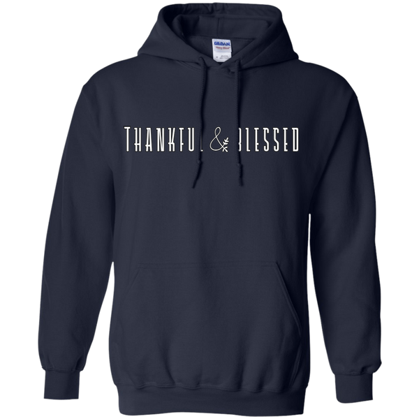 Thankful and Blessed Hoodie Sweatshirt Navy