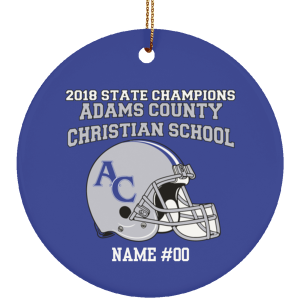 Personalized ACCS State Champions 2018 Ornament